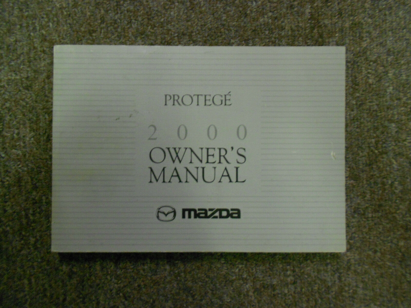 2000 Mazda Protege Owners Manual FACTORY OEM BOOK 00 DEALERSHIP MAZDA x 1  of 12Only 1 available ...