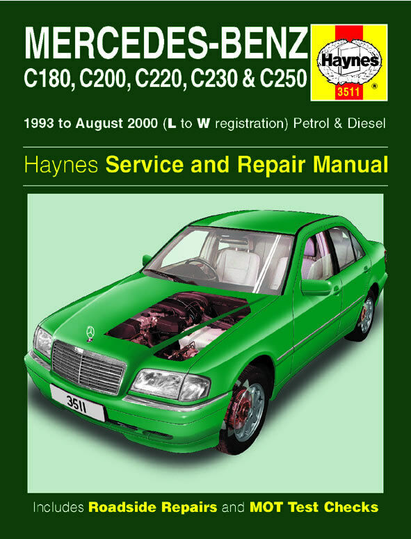 mercedes w202 c class c180 c200 c220 c230 c250 1993 2000 haynes manual 3511 new  u00a311 45 C200 Mercedes-Benz Owner's Manual mercedes-benz c-class haynes repair manual pdf