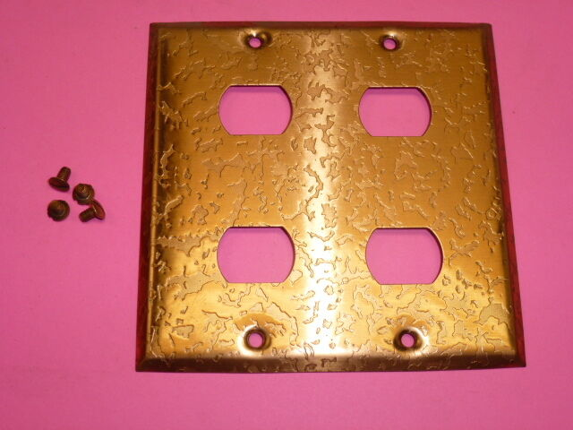 Nos! Bell Interchange 2-Gang Antique Copper Finish Wall Plate, 4-Hole
