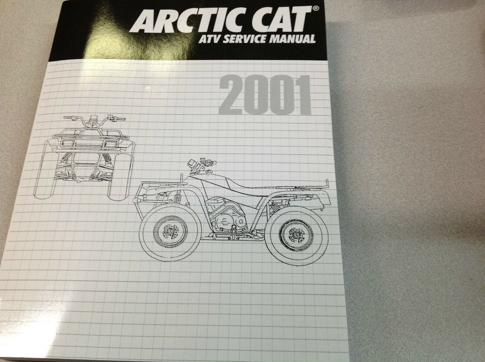 2001 Arctic Cat ATV 250 300 400 500 CC Automatic Service Repair Shop Manual  NEWx 1 of 12Only 2 available ...