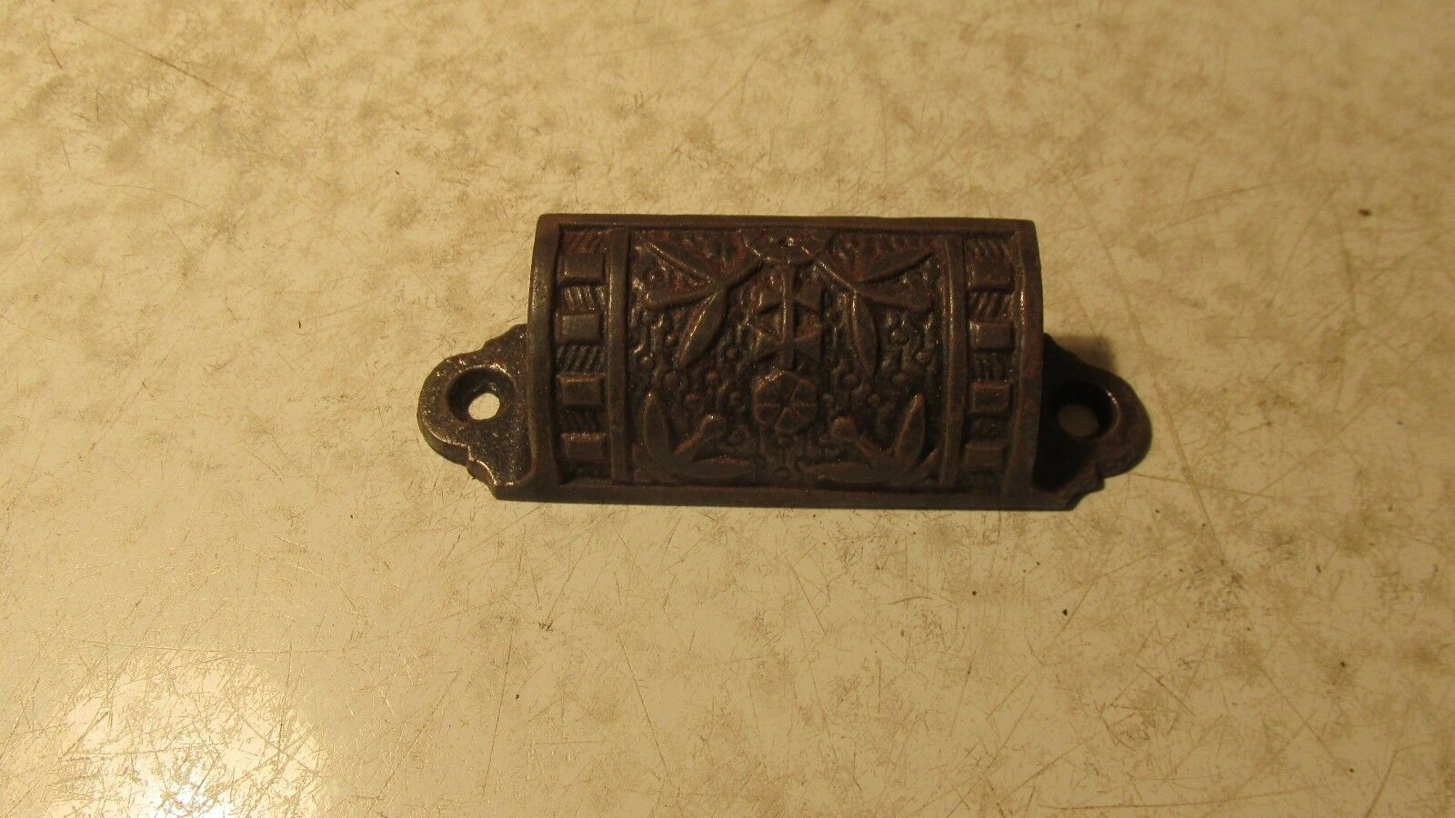 1 Antique Cast Iron Eastlake Drawer Pulls   #4
