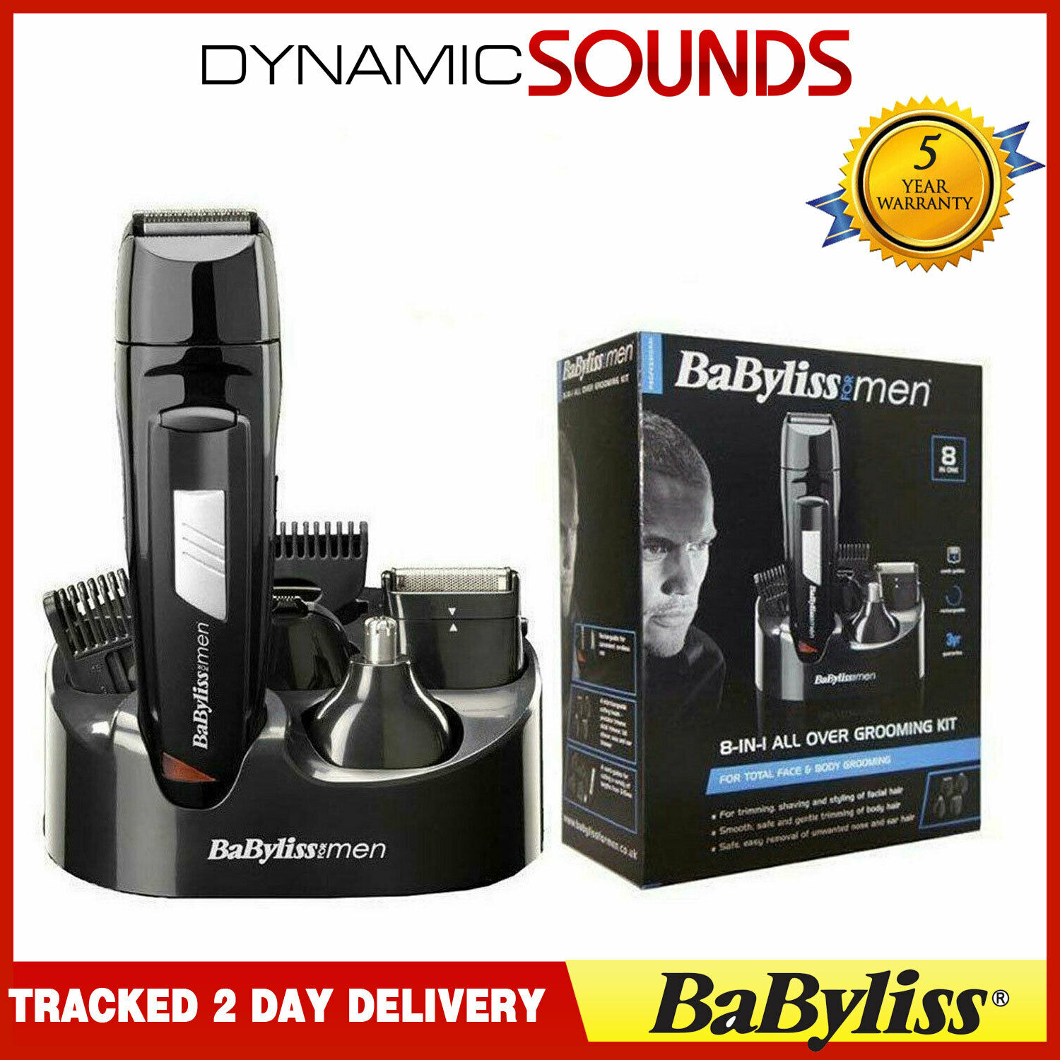 babyliss men 8 in 1 grooming kit cordless body hair clipper beard trimmer 7056cu. Black Bedroom Furniture Sets. Home Design Ideas