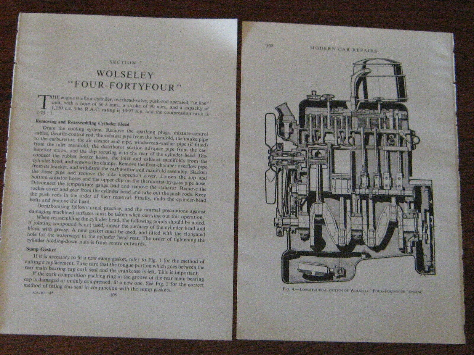 Wolseley Four Fortyfour 12pp Period 4 44 Service Wiring Diagrams Post Diagram 1950s Free 1 Of 3only Available See More