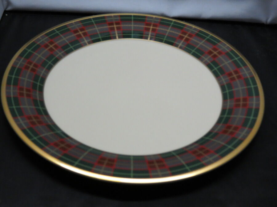 Lenox Holiday Tartan Plaid Charger Round Service Platter Plate New