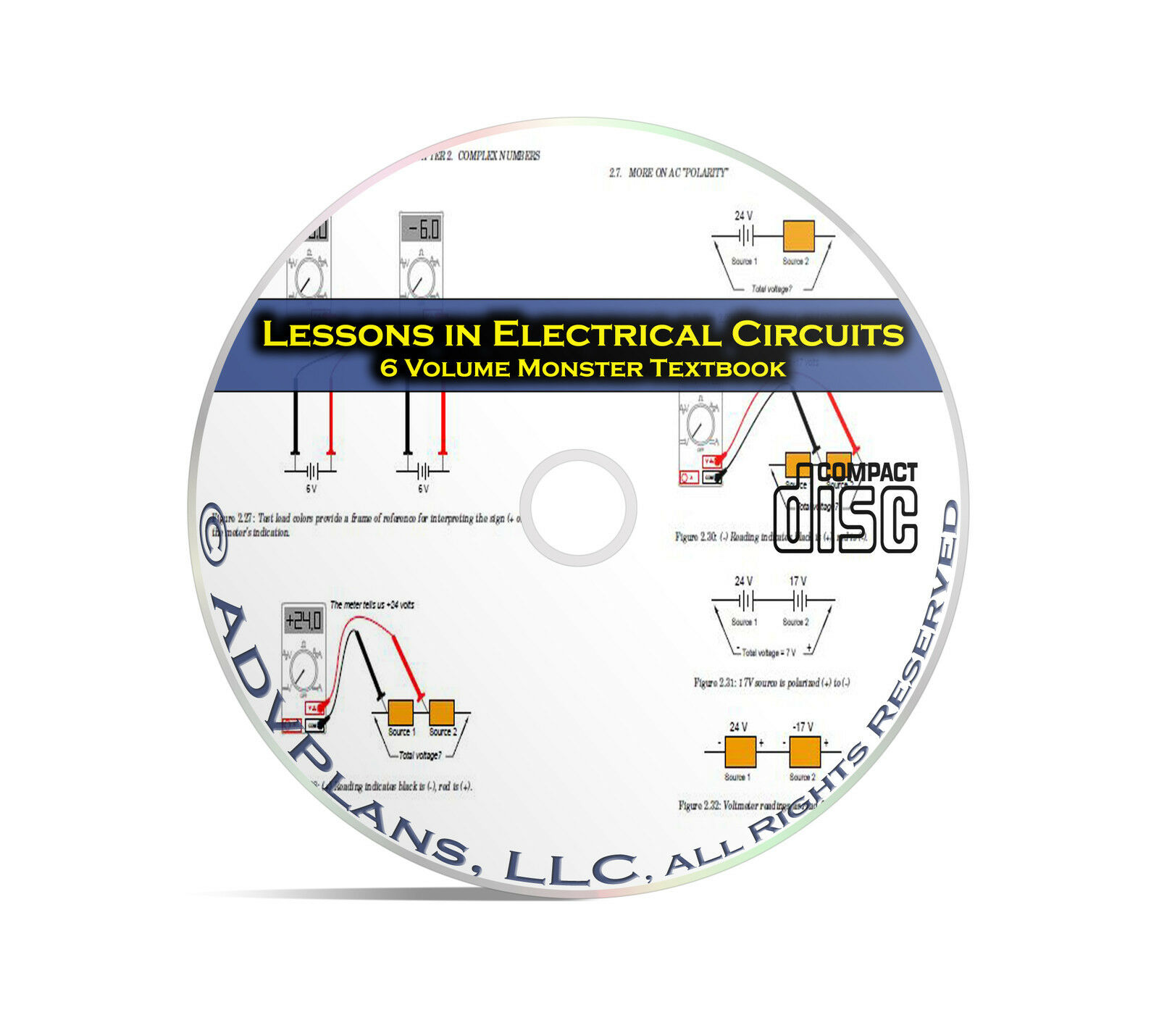 Lessons In Electric Circuits Ac And Dc 6 Volume Electronics Study 1 Of 1free Shipping