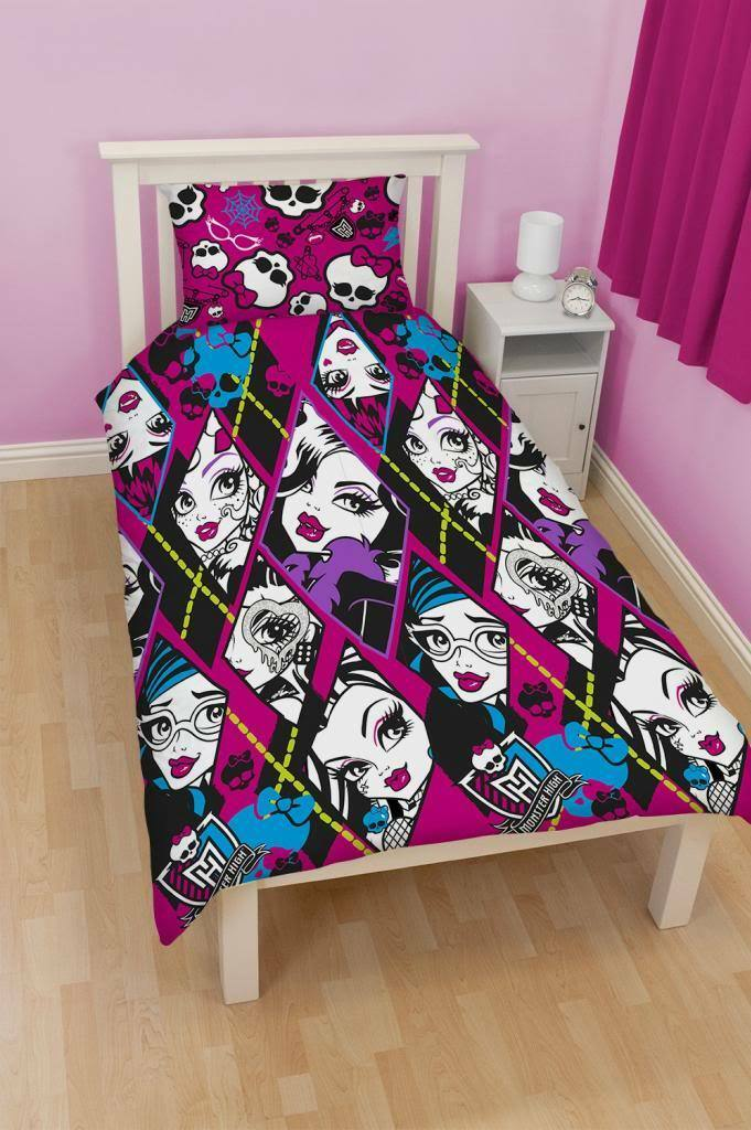 monster high bettw sche 135x200 skullette m dchen kinder bettgarnitur neu eur 11 99 picclick de. Black Bedroom Furniture Sets. Home Design Ideas