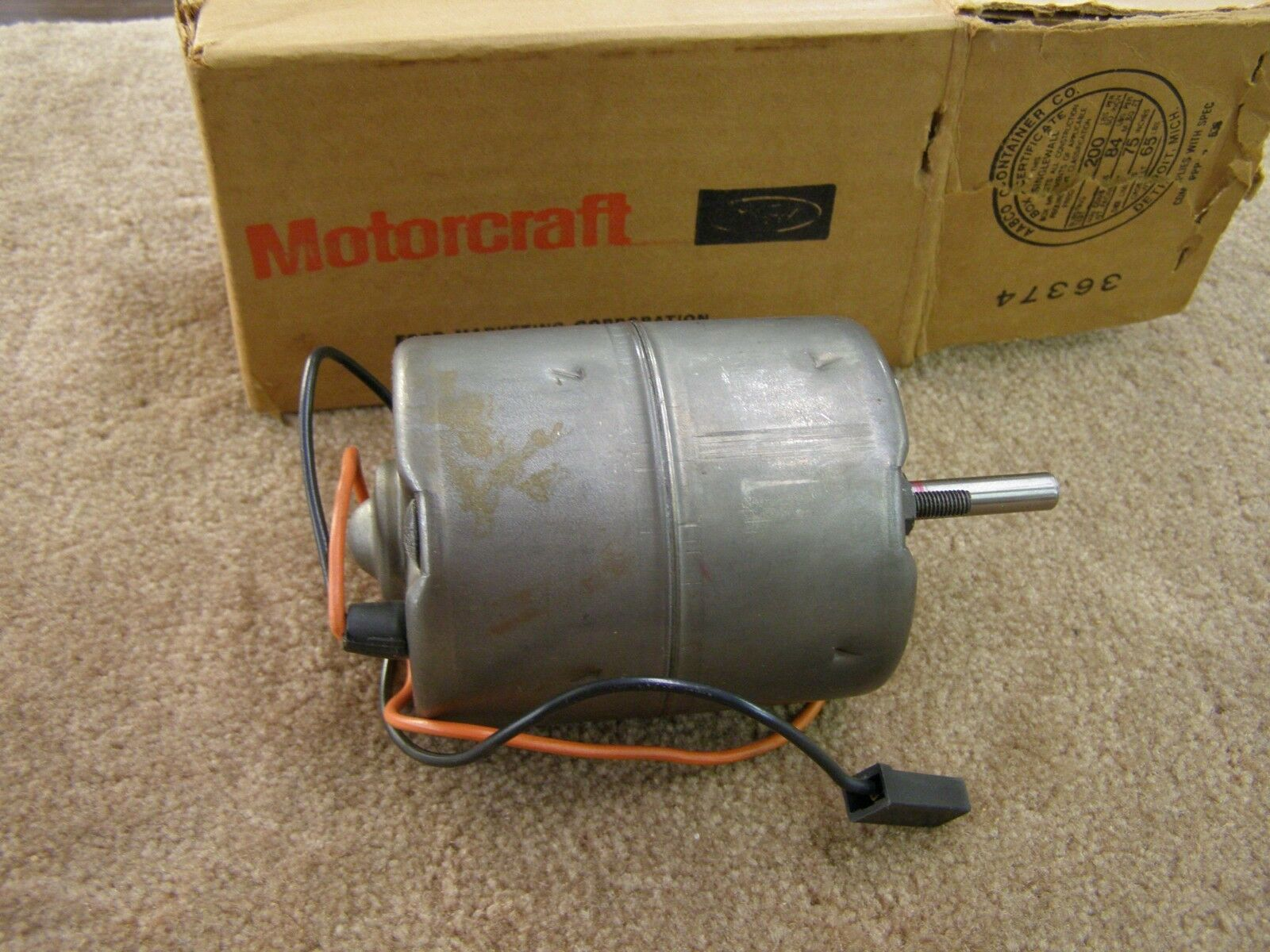 Nos 1969 1973 Ford Econoline Van Heater Motor 1970 1971 1972 E100 1 Of 6only Available