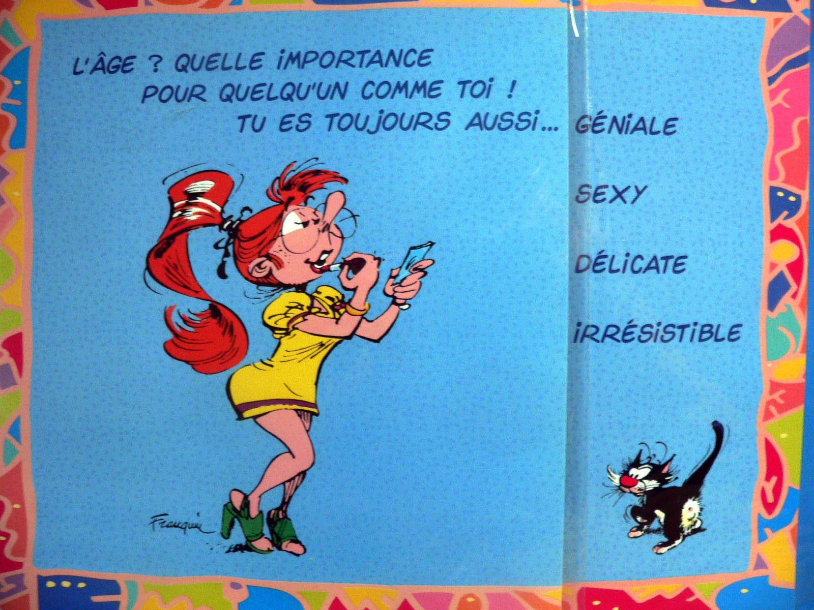 rare grande carte postale d 39 anniversaire humour de gaston lagaffe rabat et env eur 5 90. Black Bedroom Furniture Sets. Home Design Ideas