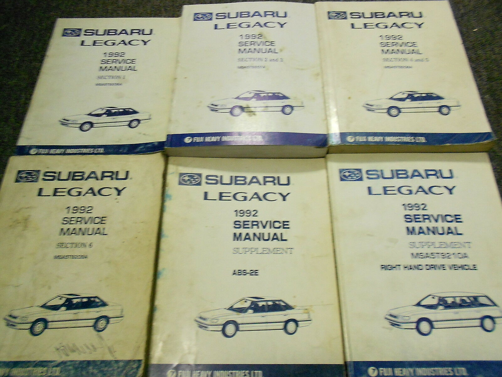 1992 Subaru Legacy Service Repair Shop Manual HUGE SET FACTORY OEM BOOKS 92  x 1 of 8Only 2 available ...