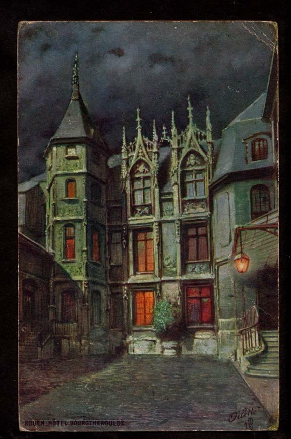 french tuck hotel bourgtheroulde rouen france postcard. Black Bedroom Furniture Sets. Home Design Ideas