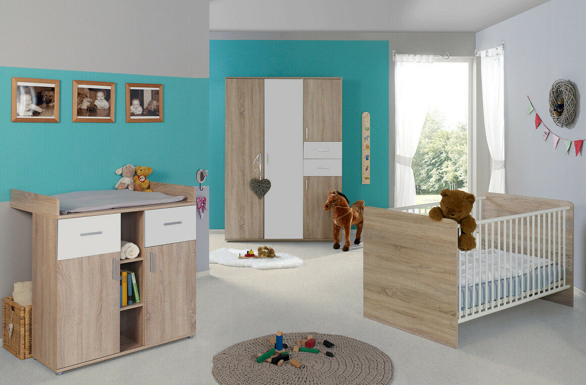 babyzimmer kinderzimmer komplett set babym bel komplettset umbaubar elisa 3 eur 449 00. Black Bedroom Furniture Sets. Home Design Ideas