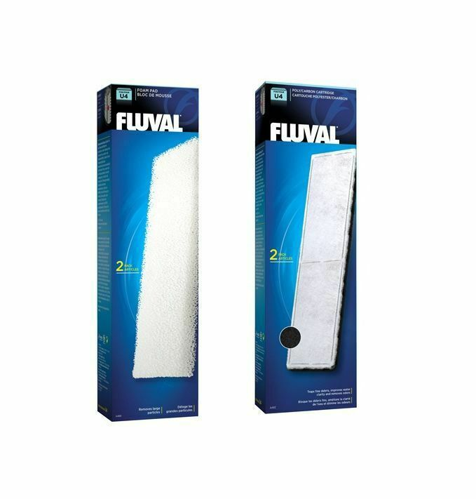Fluval U4 Internal Filter Media Replacement Foam Pad Poly Carbon Fish Tank
