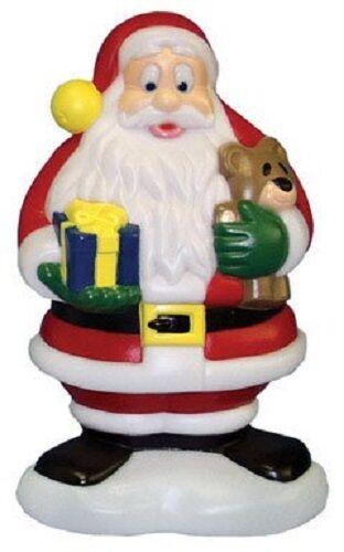 new christmas blow mold lighted plastic yard lawn decoration 18 santa claus 1 of 1only 1 available - Lighted Plastic Christmas Yard Decorations