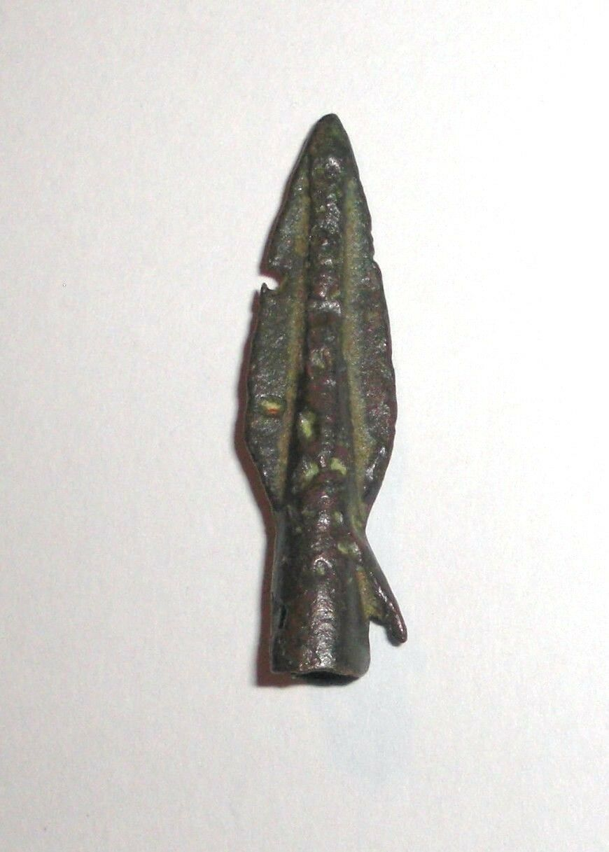 Ancient Bronze Arrowhead. 500 - 300 BC.