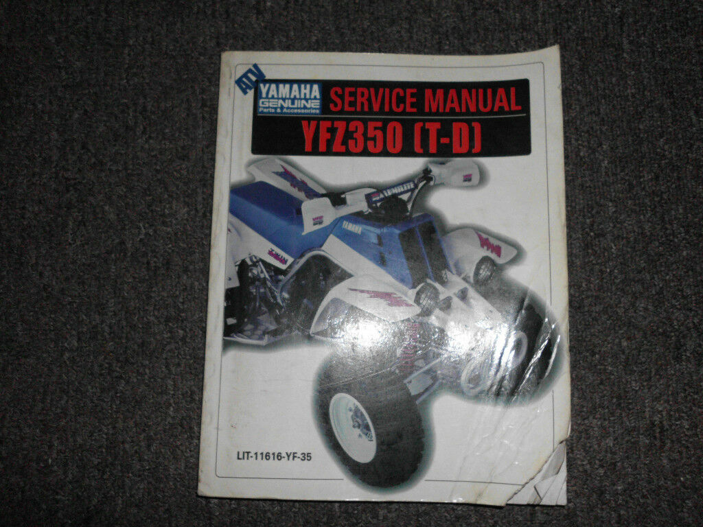 Yamaha Banshee YFZ350 T-D Service Repair Workshop Manual OEM FACTORY Brand  New 1 of 1Only 1 available ...