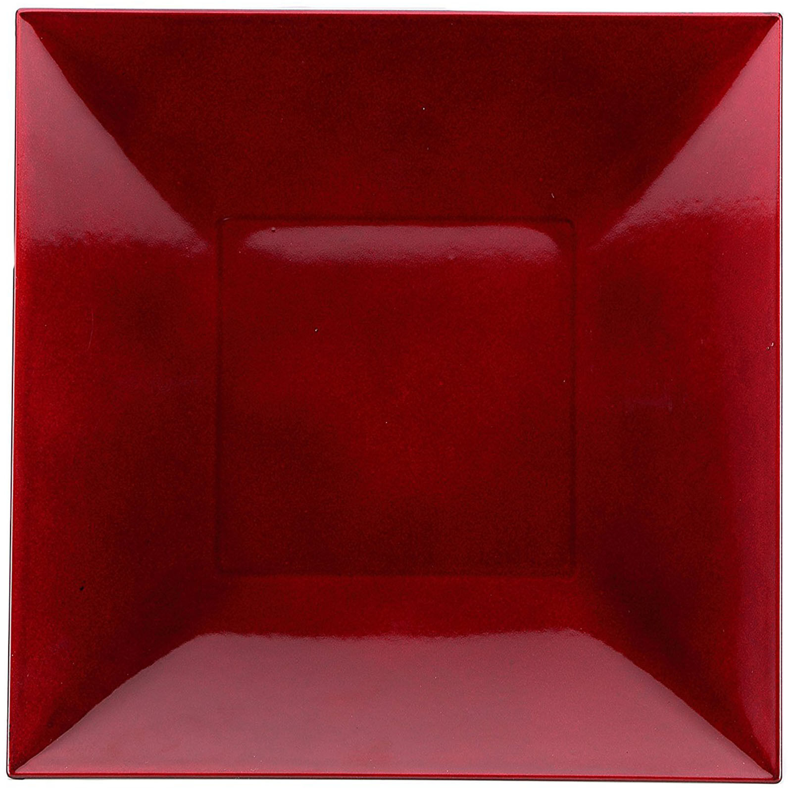 Set Of 6 Red Square Charger Plates Plastic Dinner Table Under Wedding  Placemats