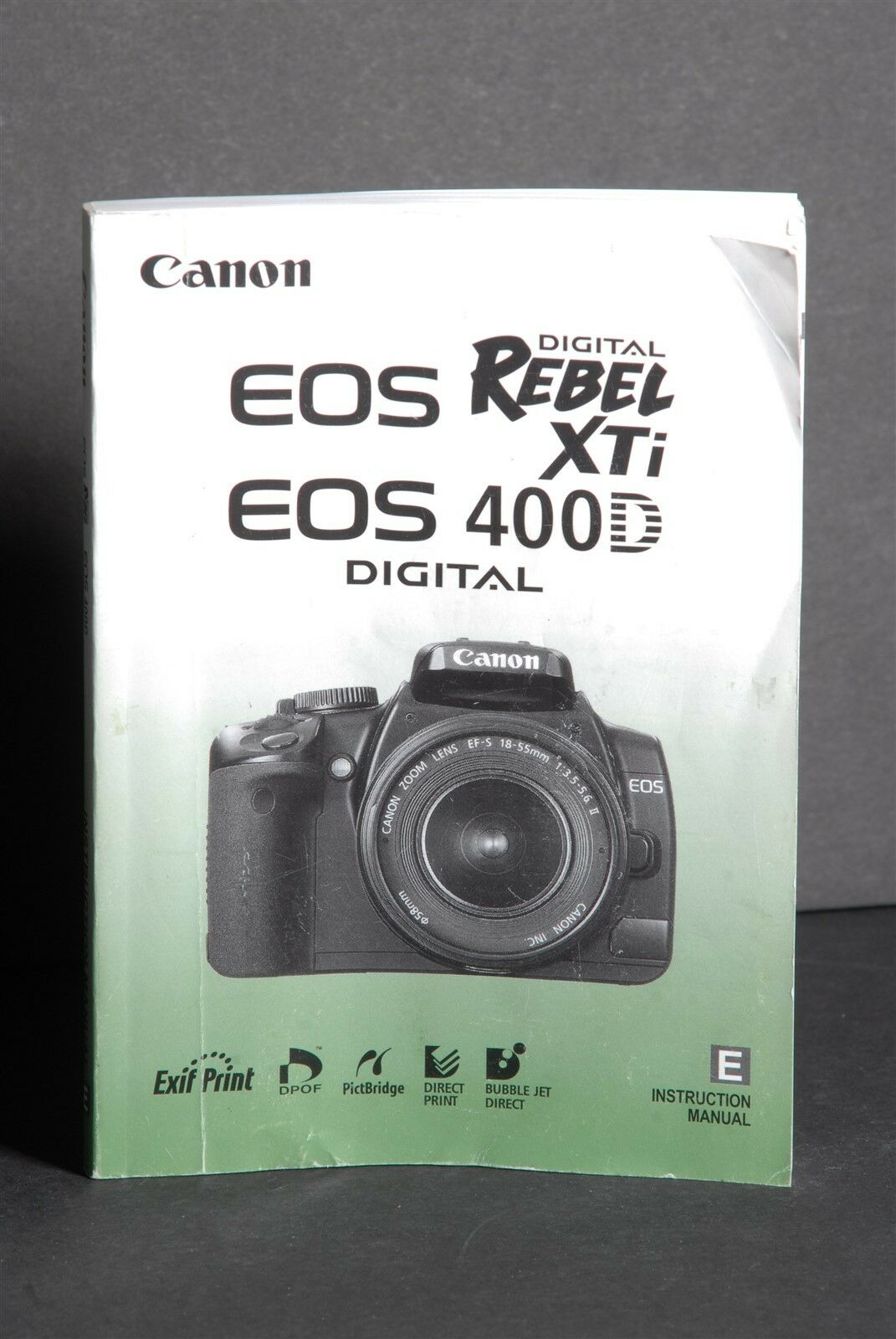 Canon Genuine EOS 400D / XTi Digital Camera Instruction Book / Manual /  Guide 1 of 1FREE Shipping ...