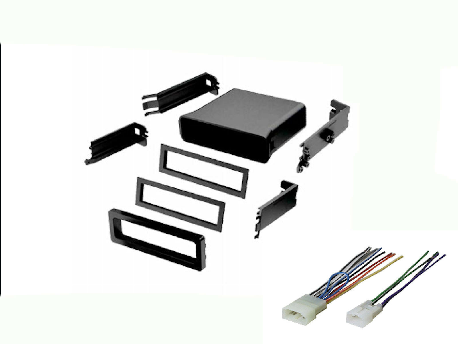 Toyota Universal Radio Stereo Install Mount Pocket Install Dash Kit Wire  Harness 1 of 1FREE Shipping ...