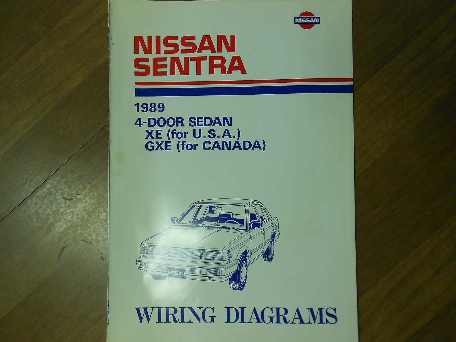 1989 Nissan Sentra 4 Door Sedan Xe Gxe Wiring Diagram Service Repair Shop Manual 1 Of 8only 2 Available