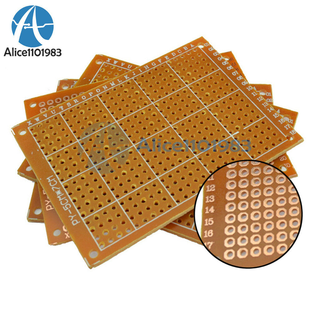 20pcs 5 X 7 Cm Diy Prototype Paper Pcb Fr4 Universal Board Clad Laminate Printed Circuit 10 15cm Double Side Prototyping Kit 1 Of See More