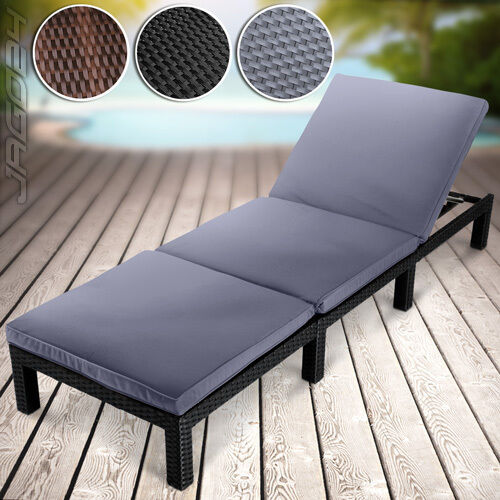 polyrattan sonnenliege gartenliege liegestuhl relaxliege strandliege deckchair eur 109 95. Black Bedroom Furniture Sets. Home Design Ideas