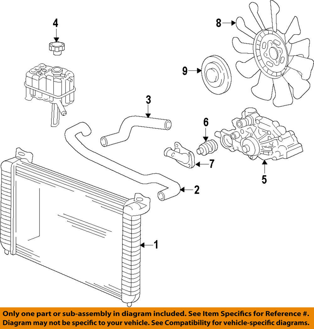 Acdelco Engine Cooling System Diagram Electrical Wiring Diagrams For Cars Gm Oem Radiator Fan Clutch 25838900 246 27 Picclick Boat Water