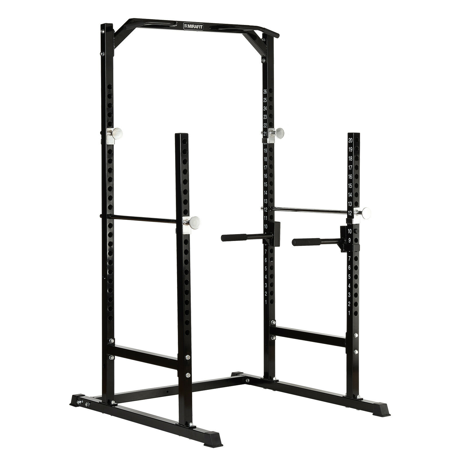 Mirafit Heavy Duty Half Power Cage Squat Gym Rack Bench Press Pull Up Dip Stand
