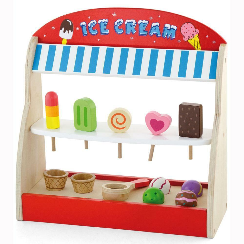 Childrens kids wooden ice cream lolly shop pretend play for Kitchen set toy kingdom