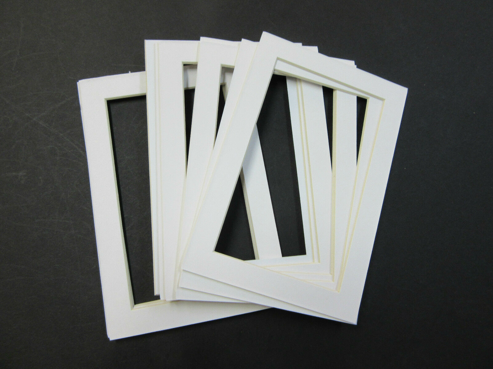PICTURE FRAME MAT 4x6 for 3.5x5 photo set of 6 mats White color ...