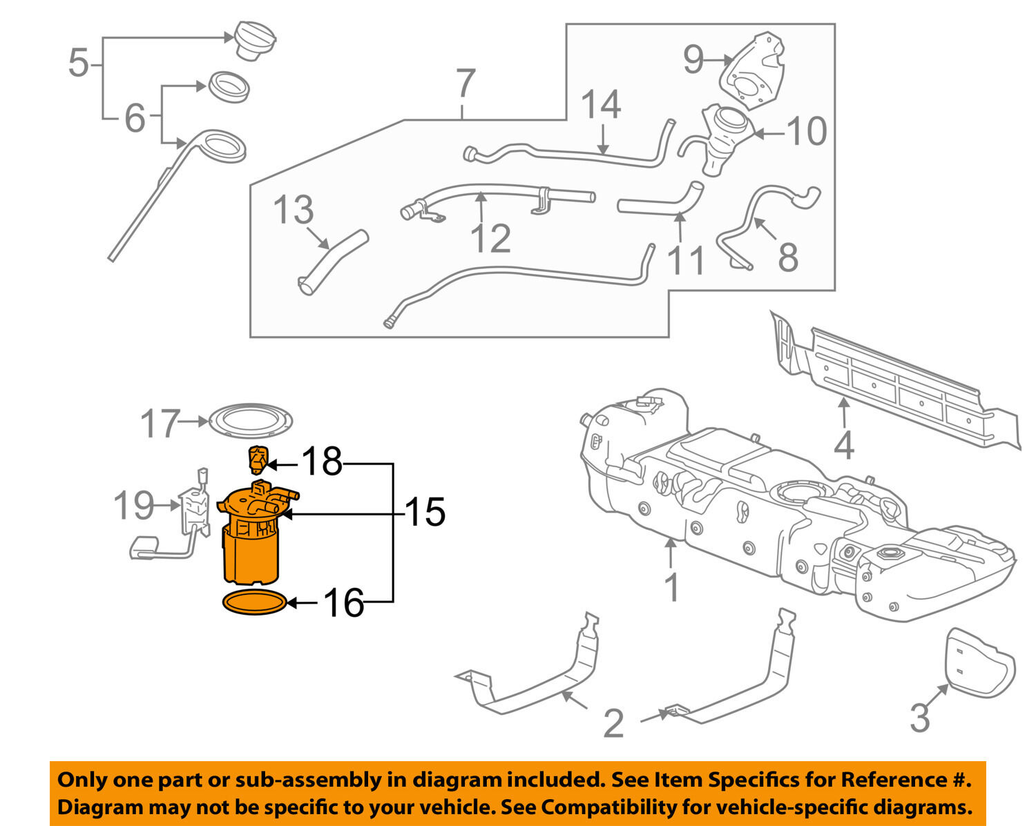 Gm Oem Fuel Pump 19299717 25211 Picclick Diagram 1 Of 2only Available