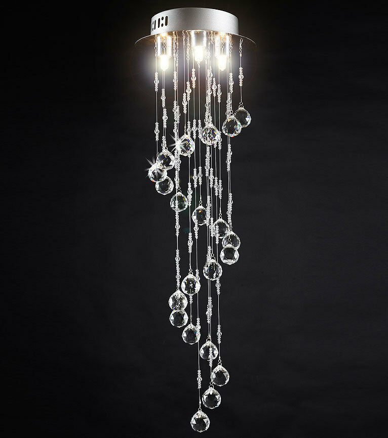 cristal plafonnier moderne design lampe lustre l gante pendentif suspension eur 49 00. Black Bedroom Furniture Sets. Home Design Ideas