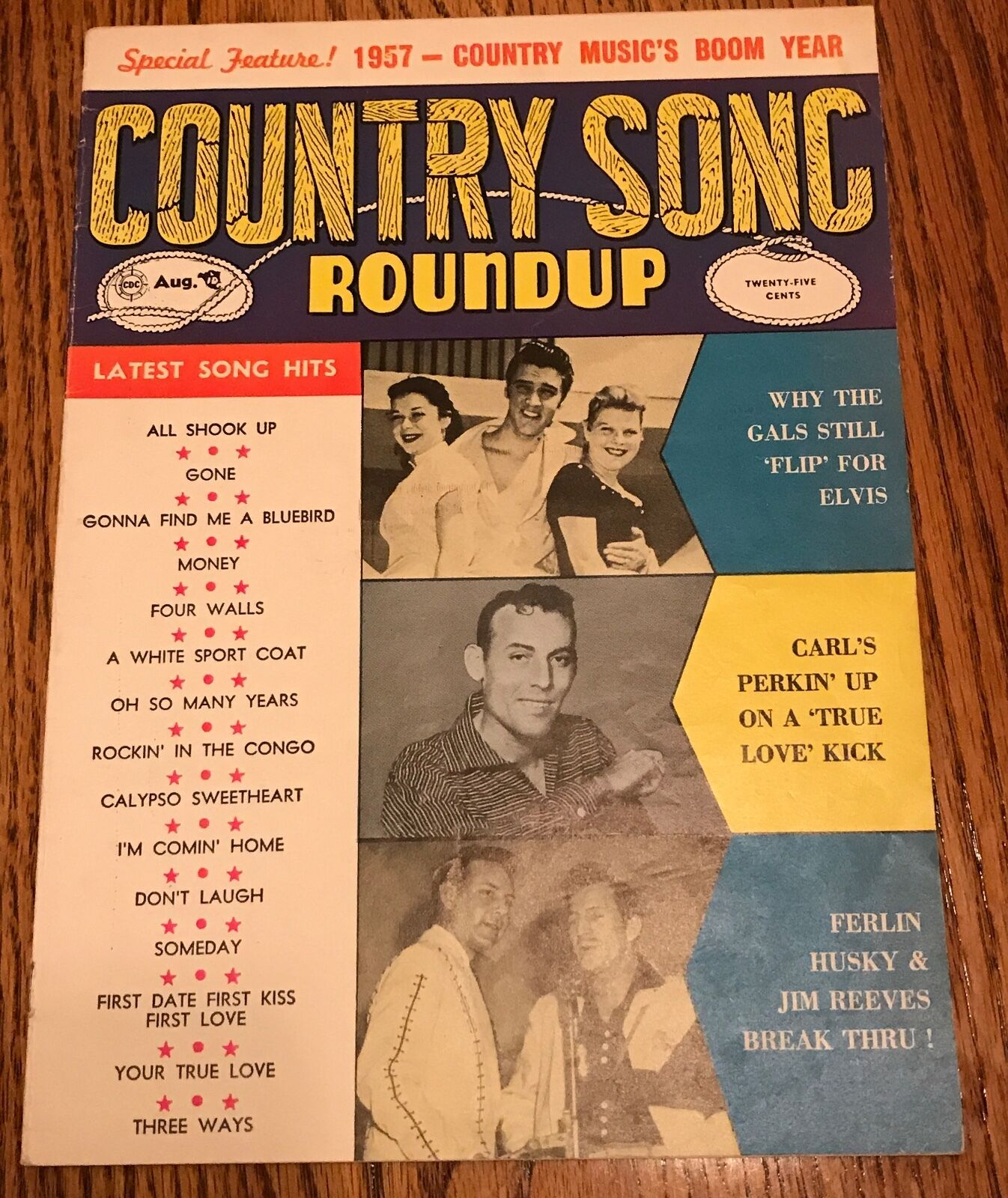 ELVIS COUNTRY SONG Roundup Magazine 1957 - $149.00 | PicClick