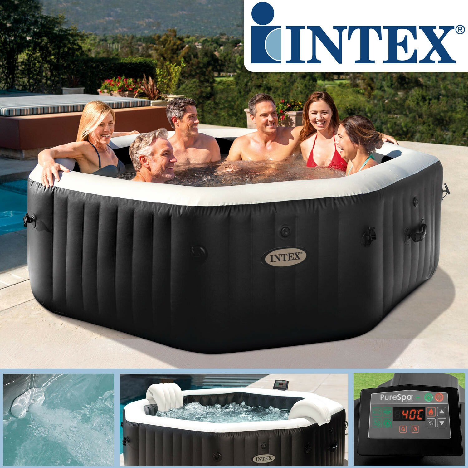 intex 128456 whirlpool spa 218x71cm pool badewanne badewanne whirlwanne eur 879 00 picclick de. Black Bedroom Furniture Sets. Home Design Ideas