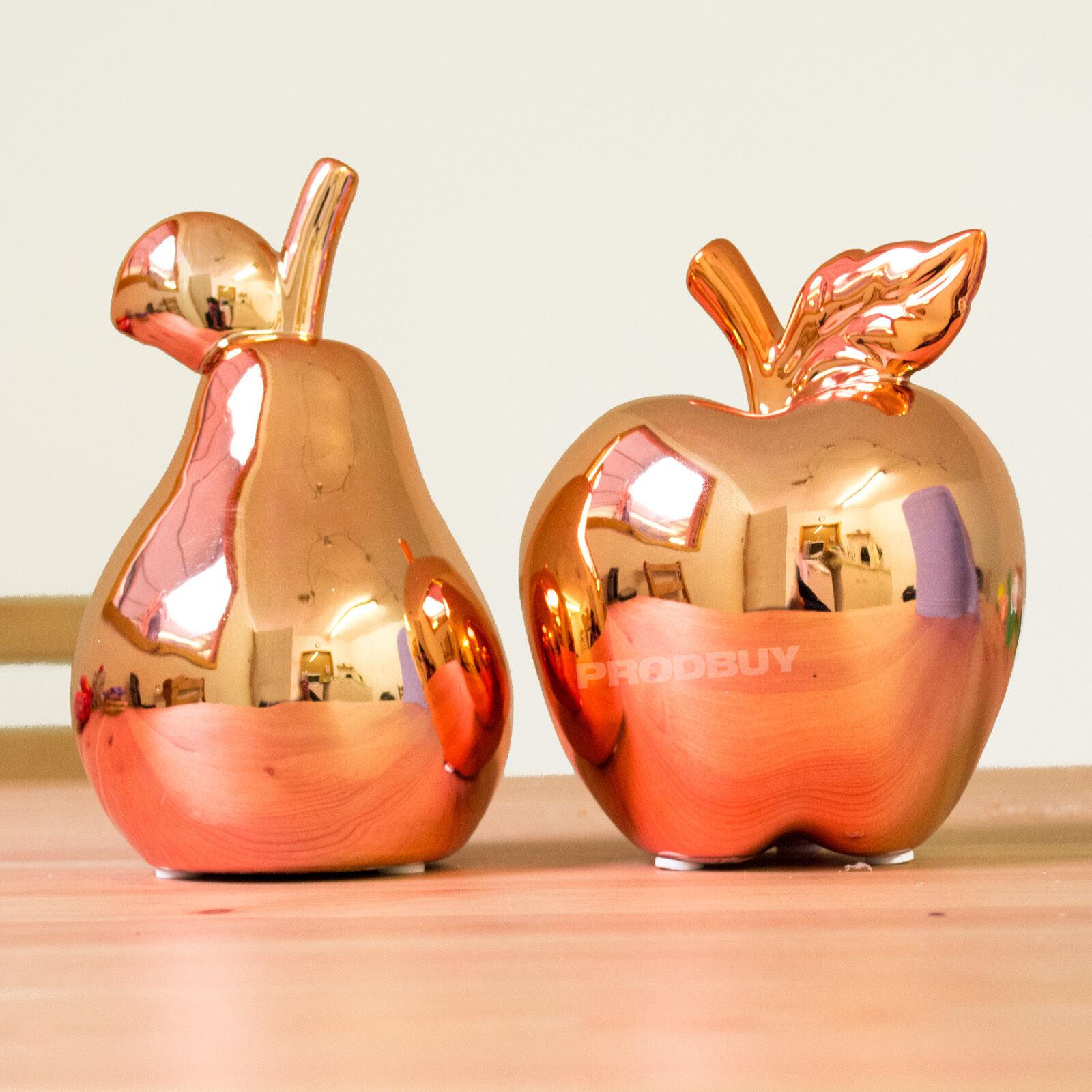 Modern rose gold copper fruit ornament home decor for Modern decorative items