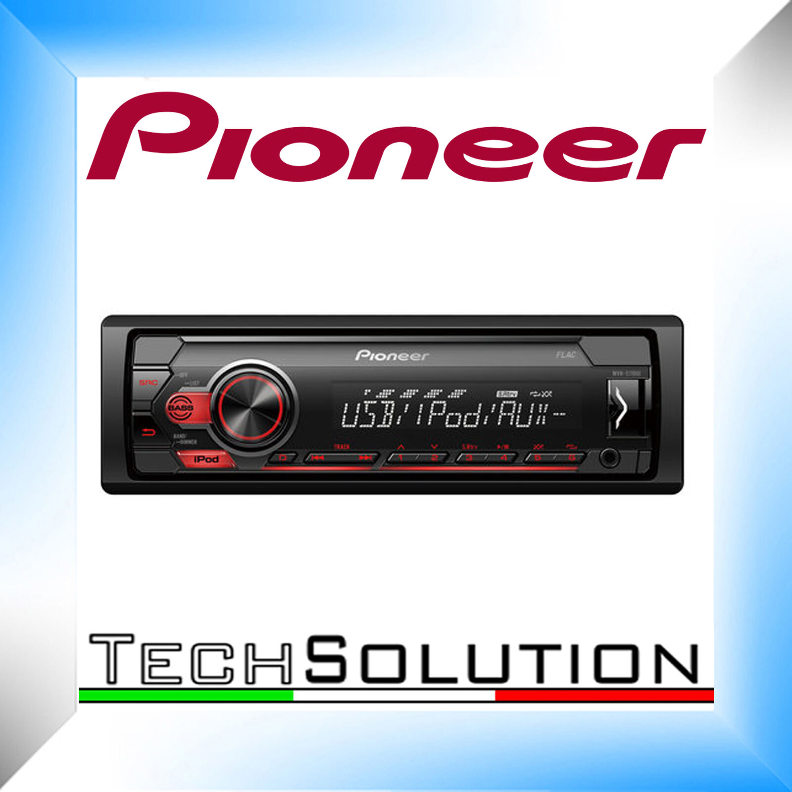 pioneer mvh s100ui autoradio mp3 usb aux in rds apple. Black Bedroom Furniture Sets. Home Design Ideas