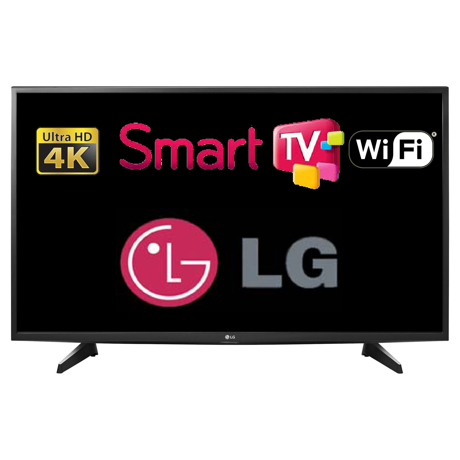lg 43uh610v 43 smart led tv 4k ultra hd with freeview tuner wi fi webos hdmi. Black Bedroom Furniture Sets. Home Design Ideas