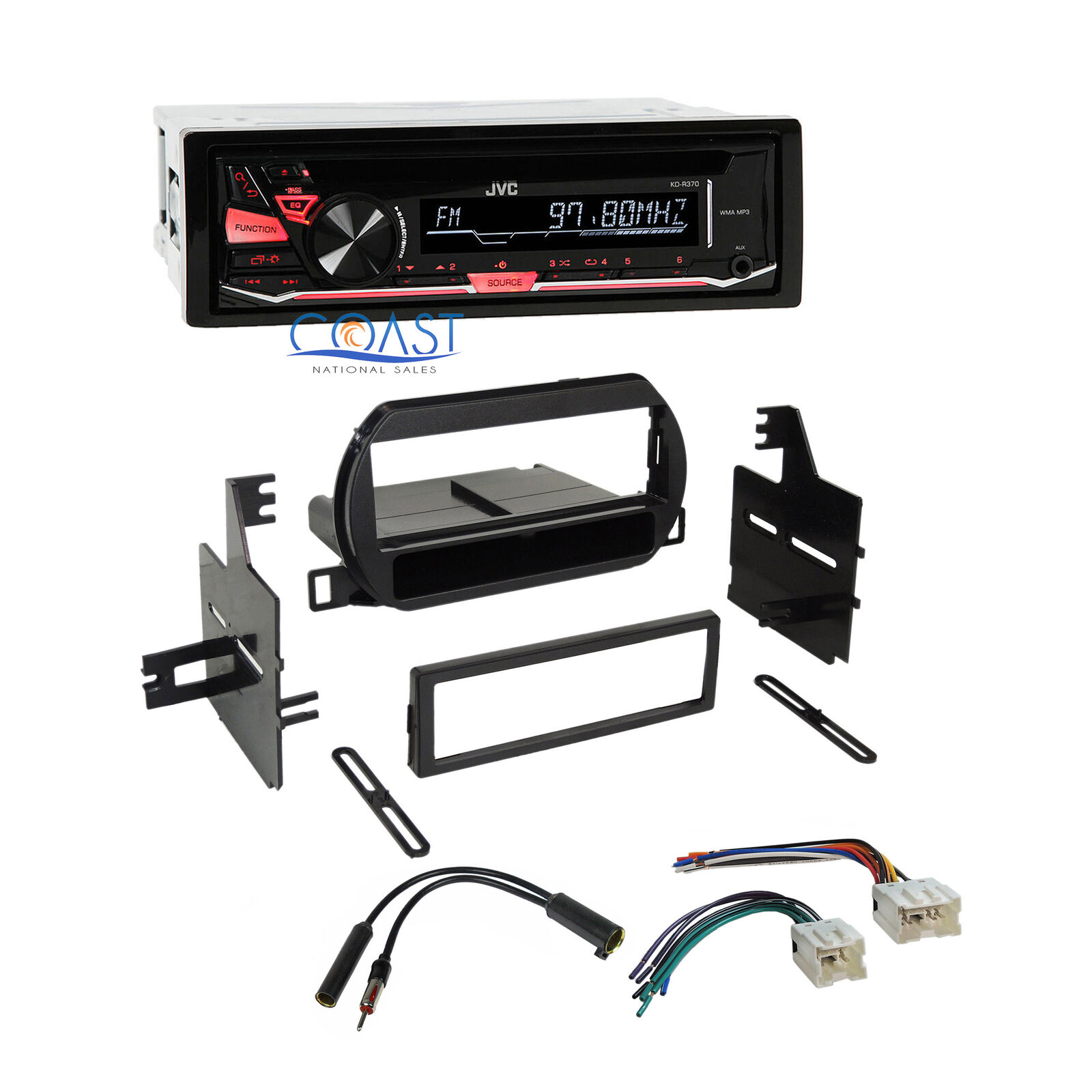 Jvc Car Stereo Single Din Dash Kit Wire Harness Antenna For 02 04 Nissan Wiring 1 Of 6free Shipping
