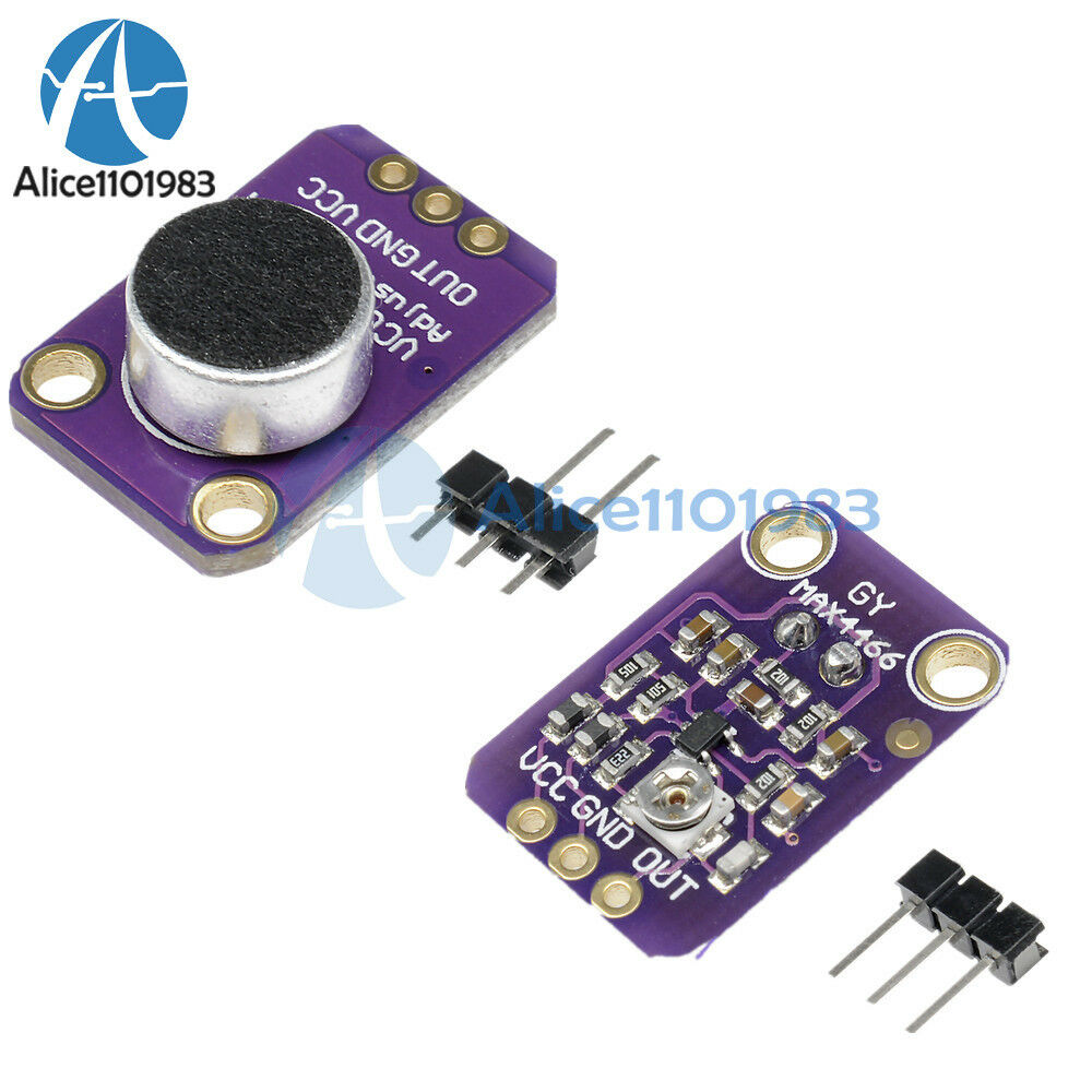 New Gy Max4466 Electret Microphone Amplifier With Adjustable Gain Circuit As Well Sound Sensor Arduino For