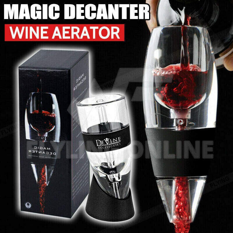 Magic Decanter Essential RED Wine Aerator and Sediment Filter with Gift Box AU