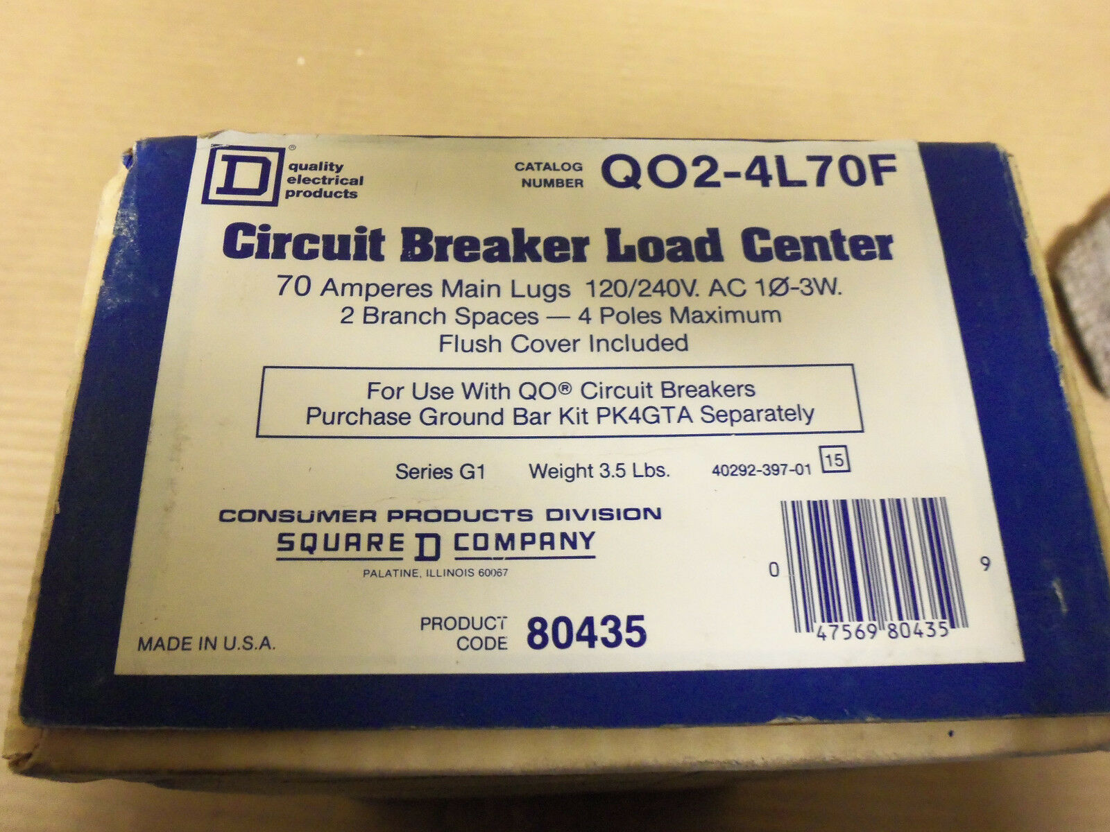 New Square D Circuit Breaker Load Center Q02 4l70f 70 Amp 120v 240v Homeline Wiring Diagram 70a 1 Of 3only Available