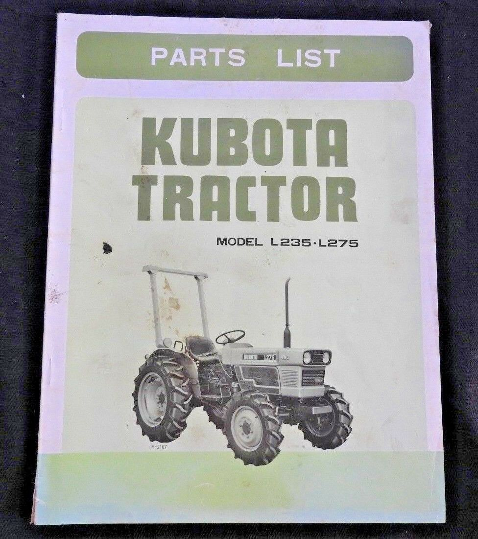 Kubota L225 Parts Diagram Schematic Diagrams L3400 Wiring L275 Tractor Electrical L245 Engine Genuine L235