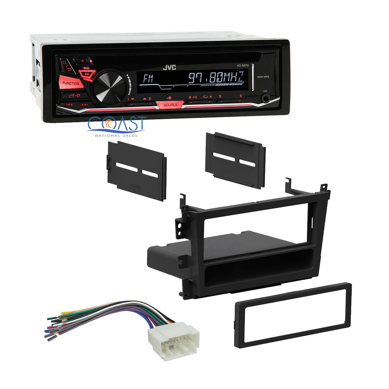 Jvc Car Radio Stereo Single Din Dash Kit Wire Harness For 1999 2003 Wiring 1 Of 5free Shipping
