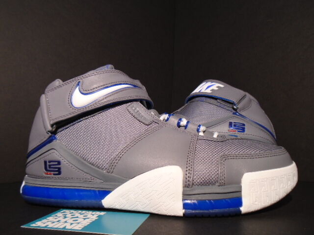 free shipping 4b92d cdaf7 2005 Nike ZOOM LEBRON II 2 COOL GREY WHITE ROYAL BLUE RED ALL-STAR 309378- 012 9 1 of 2FREE Shipping ...
