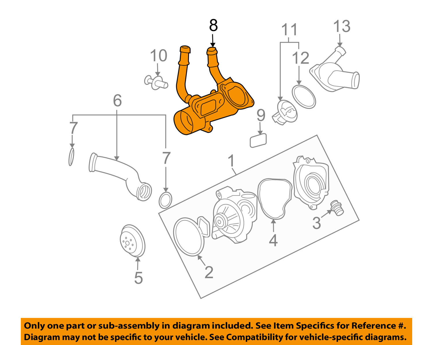 Gm Oem Engine Coolant Thermostat Housing 12597172 10494 Picclick Diagram 1 Of 2only Available