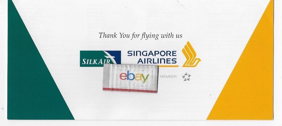 SINGAPORE AIRLINES & Silk Air Worldwide Ticket Jacket Route Map 73 ...