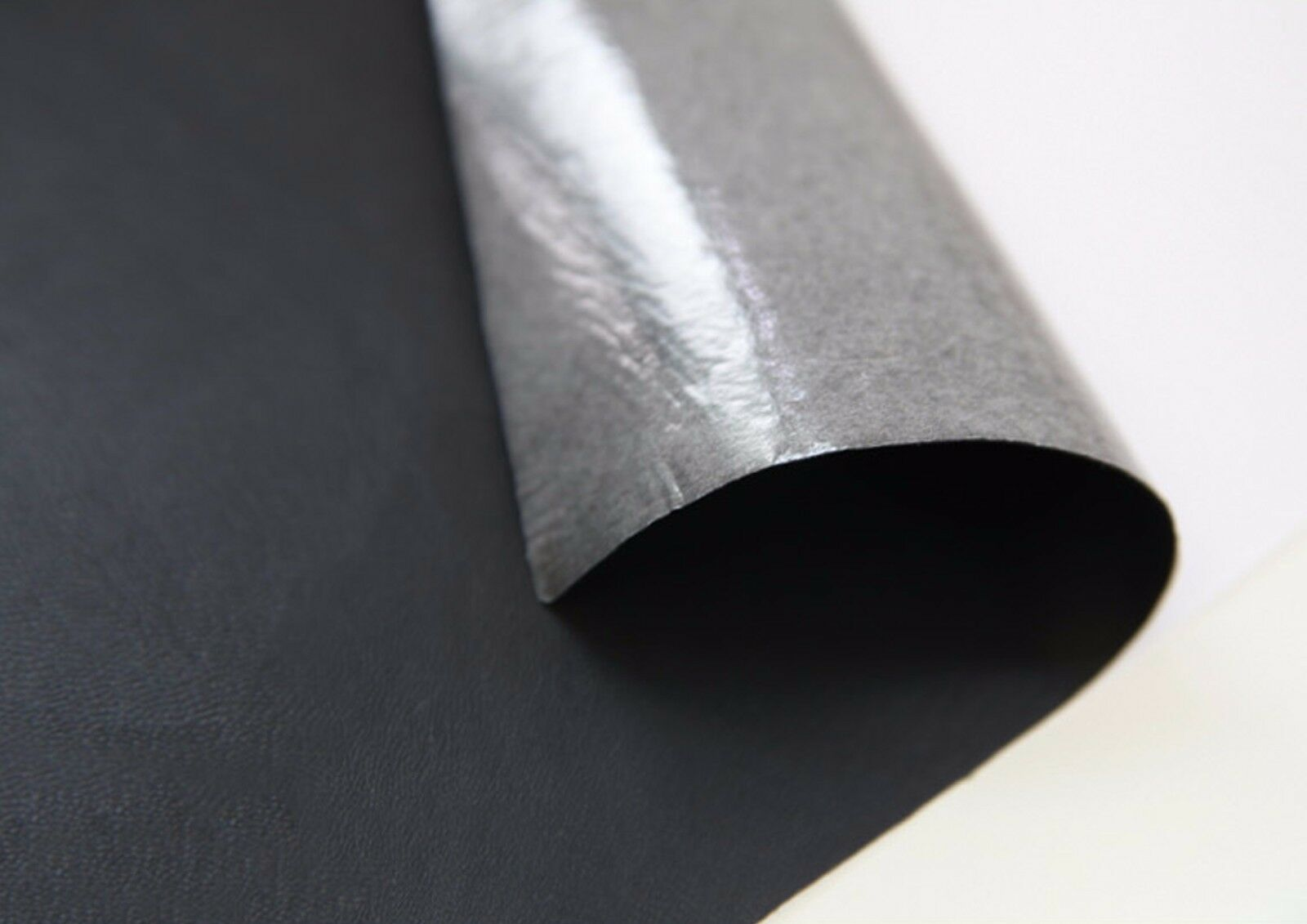 Black faux leather fabric sticker sheet diy craft for Leather sheets for crafting