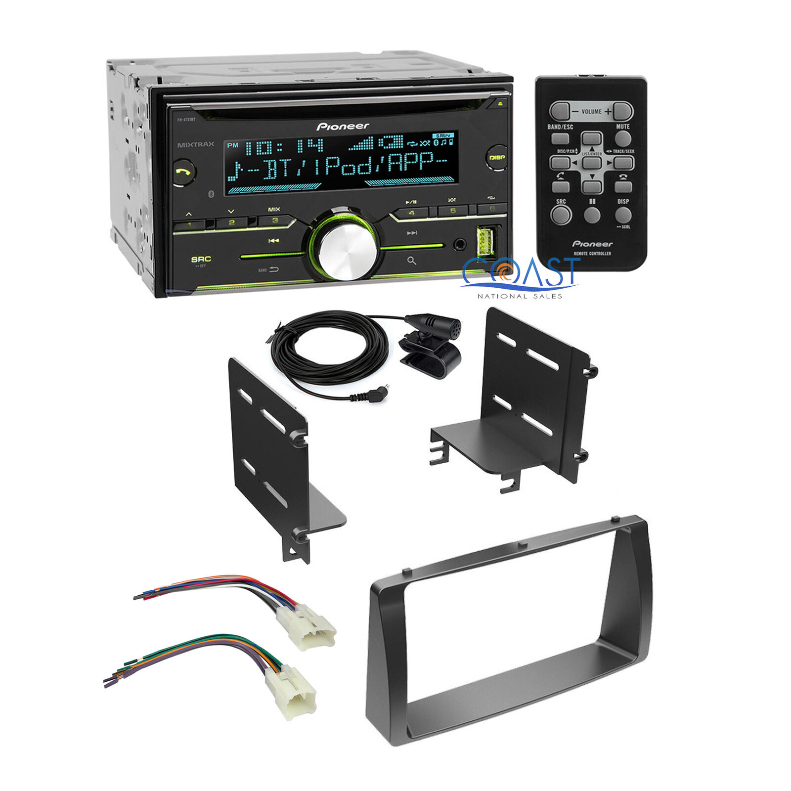 Stereo Toyota Harness 1223 Wire Center Flickerledcircuit Pioneer Radio Double Din Dash Kit For 03 08 Rh Picclick Com Ford Wiring Car