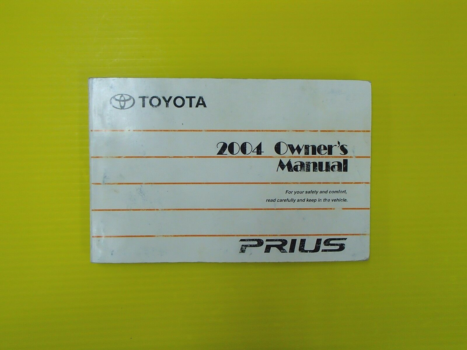 Prius Hatchback 04 2004 Toyota Owners Owner's Manual 1 of 1Only 1 available  ...