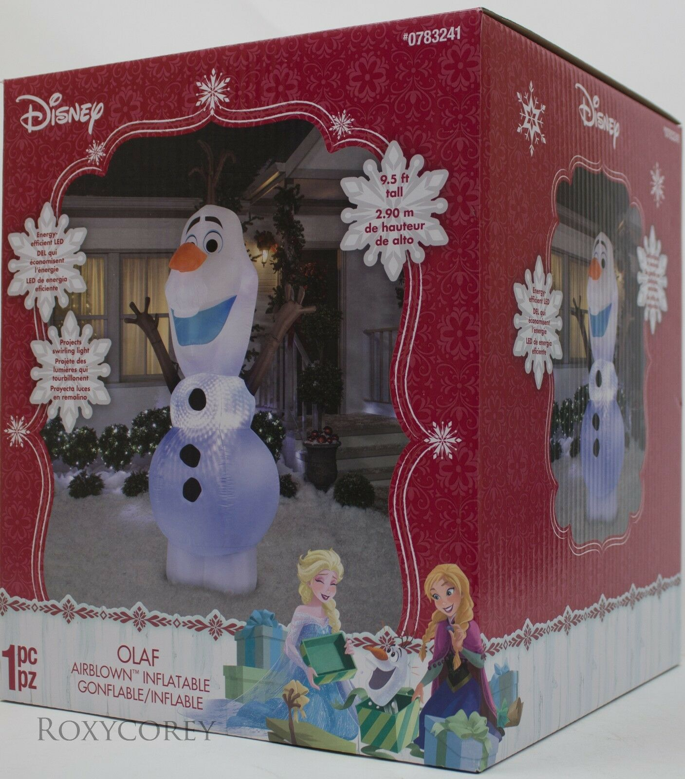 CHRISTMAS DISNEY 9.5 ft Frozen Olaf Light Up Airblown Inflatable NIB ...