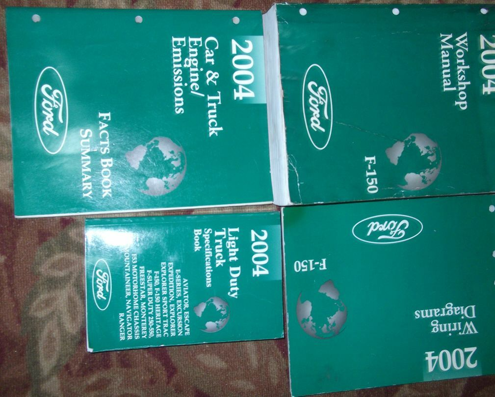 2004 FORD F150 F-150 TRUCK Service Shop Repair Manual Set OEM FACTORY 04  BOOKS 1 of 3Only 1 available See More
